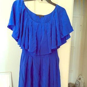 Cynthia Steffe size 2 Blue silk dress
